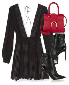 """Untitled #2636"" by elenaday ❤ liked on Polyvore featuring Rebecca Minkoff, Sam Edelman and Delvaux"