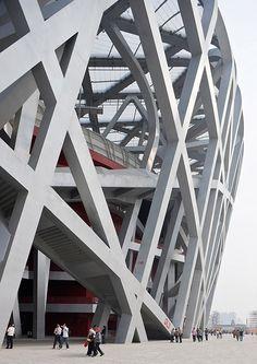 """The Nest"" , Beijing National Stadium; Beijing, China;  Herzog & de Meuron in collaboration with chinese artist Ai WeiWei."
