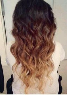 Nice gradient into peroxide blonde, ombre