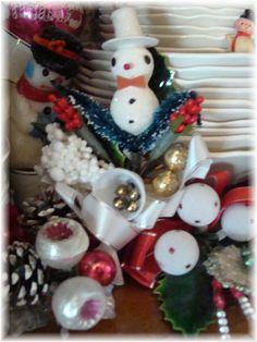 Vintage Snowman Corsage