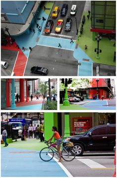 From Ben Hardgrave's 2013 Baptism Board: Photographs of Jessica Stockholder's Color Jam Installation. The way that it transforms a usually monotonal city space into a cross section of colour is something that I'd love to experience first hand sometime in my life.
