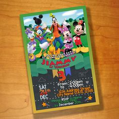 Mickey Mouse Birthday invitations Mickey Mouse by FriendDesignShop
