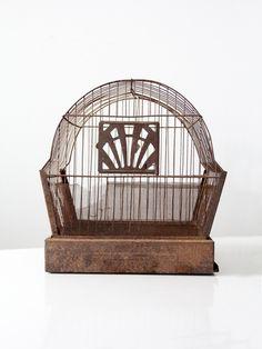 antique Crown bird cage