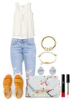 """""""Untitled #1827"""" by social-outcast-16 on Polyvore featuring rag & bone, Ted Baker, Melissa Joy Manning and Giorgio Armani"""