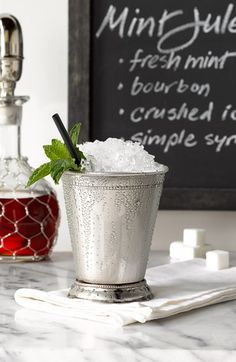 A Mint Julep isn't a Mint Julep without the metal cup.