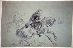 ACW Sketches: Drawing the War, Part 1: Alfred Waud | Emerging Civil War... George Armstrong Custer, a captain on McClellan's staff.