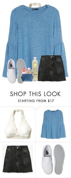 """""""Capital letter"""" by bryleighs ❤ liked on Polyvore featuring Hollister Co., Gibson, RE/DONE and Vans"""