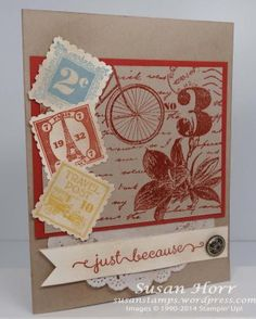 Postage Due, Stampin Up, susanstamps.wordpress.com