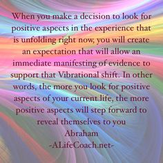 Today I seek all positive things. Abraham Hicks ❤️☀️