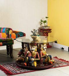 Kalatva Hand Painted Coffee Table by Mudramark