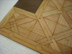 tips: putting together a miniature parquet floor kit