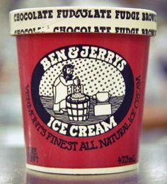 In 1990 Ben & Jerry's introduced Chocolate Fudge Brownie ice cream in pints. The brownies come from Greyston Bakery in Yonkers, New York, which employs and empowers disenfranchised people from the local community. ((Beautiful thing when good food & good causes mix together!))