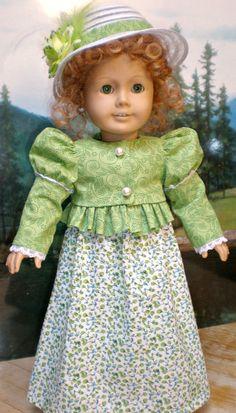 Green Regency Dress 4pc