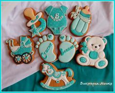 Виктория Мышко. Место проживания - Пирятин, Украина. Личные фото. Baby Cookies, Baby Shower Cookies, Iced Cookies, Cute Cookies, Birthday Cookies, Cupcake Cookies, Sugar Cookies, Torta Baby Shower, Shower Cakes