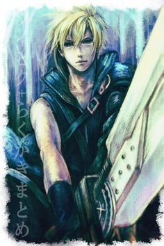 Cloud Strife. Fan art. Final Fantasy VII: Advent Children.