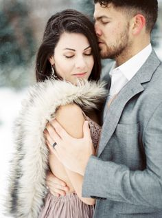 This engagement shoot may be in the snow but it is hot hot hot! http://www.stylemepretty.com/north-carolina-weddings/raleigh/2017/02/23/it-may-be-snowing-but-this-winter-engagement-is-hot-hot-hot/ Photography: Forage and Film - http://forageandfilm.com/home-1/