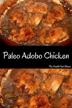 Easy and Delicious Paleo AIP friendly Chicken Adobo Recipe. Not only is it easy it's healthy to! A one pot dish that the whole family will enjoy. #paleo #aip #aipfriendly #chicken #adobo #chickenrecipe #recipes #healthy #glutenfree #dairyfree #soyfree #grainfree