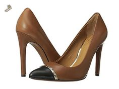 9baf0fdf95d Coach Nacie Womens Leather Pumps Heels Shoes Cinnamon Black Size 11 - Coach  pumps for women