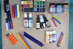 Margot & Fiona: ACUARELAS, TINTAS Y PIGMENTOS AL AGUA. INTRODUCCIO... Scrap, Ink, Water Colors, Water, Tutorials