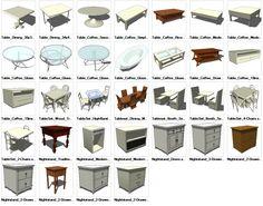 Sketchup Table 3D models download – CAD Design   Free CAD Blocks,Drawings,Details