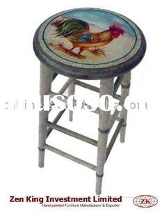 hand painted bar stools - Google Search
