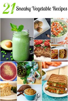 21 Sneaky Vegetable Recipes to help you hit 7-9 servings daily! Vegan, gluten-free options