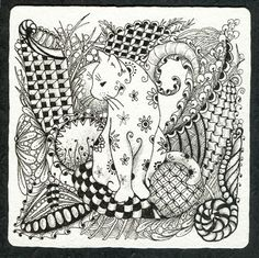 Cat Abstract Doodle Zentangle ZenDoodle Paisley Coloring pages colouring adult… Zentangle Drawings, Doodles Zentangles, Zentangle Patterns, Doodle Drawings, Doodle Art, Doodle Patterns, Cat Coloring Page, Colouring Pages, Adult Coloring Pages