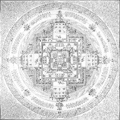 "From Jose and Miriam Arguelles: ""Mandala""  Shambala: Berkeley and London, 1972  Mandala of Kalachakra, p.14"