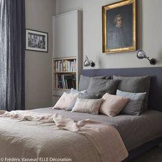 Idée déco n°2 : une chambre avec une tête de lit capitonnée - Chambre : nos meilleures idées déco - Elle Décoration