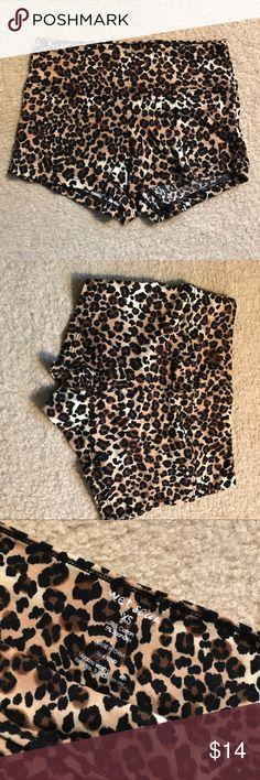 NWOT Cheetah booty shorts Size xs cheetah booty shorts. Very stretchy never worn. NWOT Shorts
