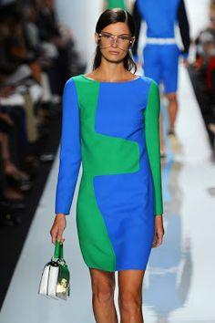 Vestido azul verde zona