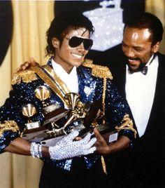 MJ & his 8 Grammy Awards (and Quincy Jones)