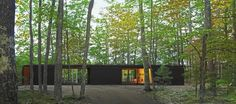 Linear Cabin,Courtesy of Johnsen Schmaling Architects