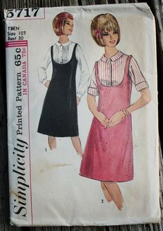 Simplicity 5717 1960s 60s Jumper Dress with by EleanorMeriwether