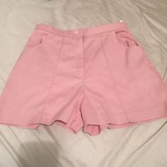 Vintage Pastel High Rise Shorts Pastel pink colored. No flaws. Zipper and button close. Fits about 26-28 waist size. Not actual American apparel. American Apparel Shorts