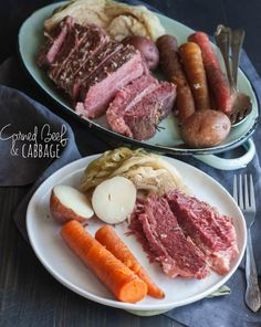 Crockpot Corned Beef and Cabbage - a showstopper of a meal all in one slow cooker!