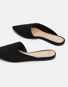 e7b3a39d4d23 Black babouches with an asymmetric cut - Bershka  fashion  product  shoes   zapatos