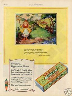 """Ladies Home Journal AD Wrigley's Double Mint Chewing Gum """"Little BoPeep""""  (1927)"""