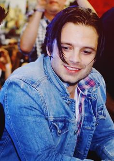 Sebastian Stan<<  HIS HAIR THOUGH<< O MY POOR SWEET INNOCENT BABY --- can I please just get your hair out of your beautiful eyes.... lol