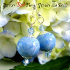Memorial Flower Bead Earrings