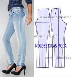 Detalhes e design de calças