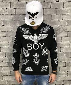 FELPA BOY LONDON NERA UOMO ART.BL678-BLK Boy London, Christmas Sweaters, Street Style, Boys, Shopping, Fashion, Baby Boys, Moda, Urban Style