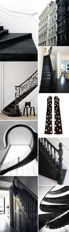 TOP LEFT (plywood and black stain) black and white home decor and accessories. / sfgirlbybay