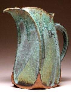 Slab Pottery Ideas | 21.70 $14.70 Slant Pitcher - Green Matte - $120.00 Slant Pitcher ...