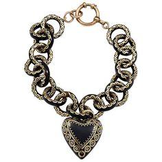 A 19th Century Tortoiseshell Pique Work Bracelet   From a unique collection of vintage more bracelets at https://www.1stdibs.com/jewelry/bracelets/more-bracelets/