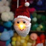 Lighted Santa Ornament – Free Pattern