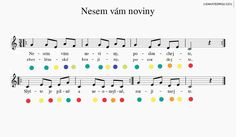 Koledy s notami pro boomwhackers Piano Sheet Music, Teaching Music, Kids Songs, Christmas Carol, Education, Musik, School, Music Lessons, Children Songs