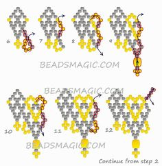 Free pattern for necklace Absolute by poegyongyei.blogspot.com        U need: seed beads 11/0 fire polished beads 6 mm         CLICK to see all Patterns for Beaded Necklaces