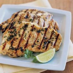Cilantro Thai Grilled Chicken With Aparagus and Mushrooms (low carb)