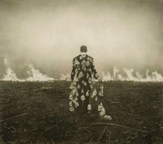 This photo shows him walking to the fire. It is like he is saying take a chance on life and just walk through.